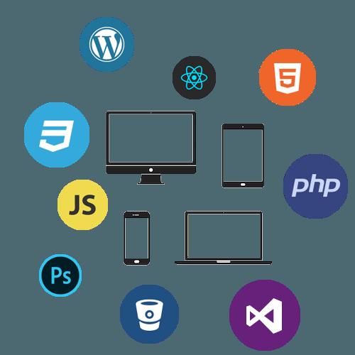 Ensemble de logos de technologies et langages de développement